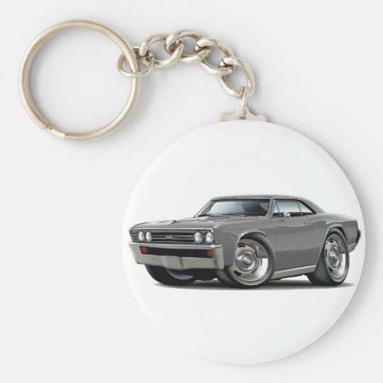 1967 Chevelle Grey Car Keychain