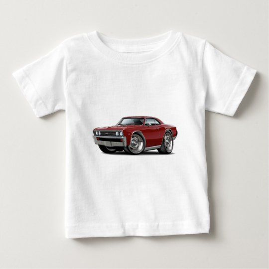 1967 Chevelle Maroon Car Baby T-Shirt