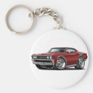 1967 Chevelle Maroon Car Keychains
