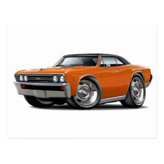 1967 Chevelle Orange Black Top Postcard