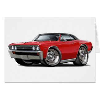 1967 Chevelle Red Black Top Card