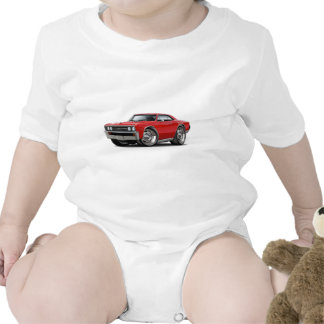 1967 Chevelle Red Car Bodysuits