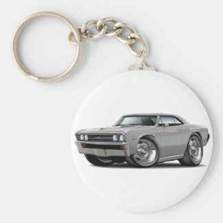 1967 Chevelle Silver Car Keychain
