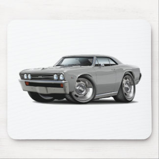 1967 Chevelle Silver Car Mouse Pads