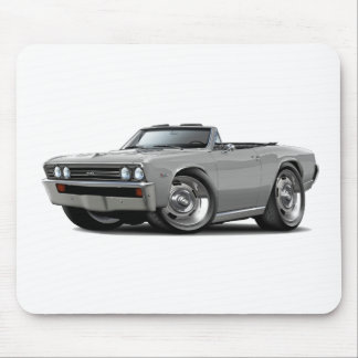 1967 Chevelle Silver Convertible Mouse Pads