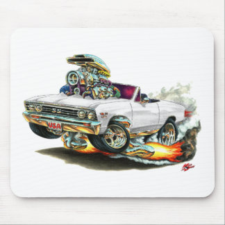 1967 Chevelle White Convertible Mouse Pads