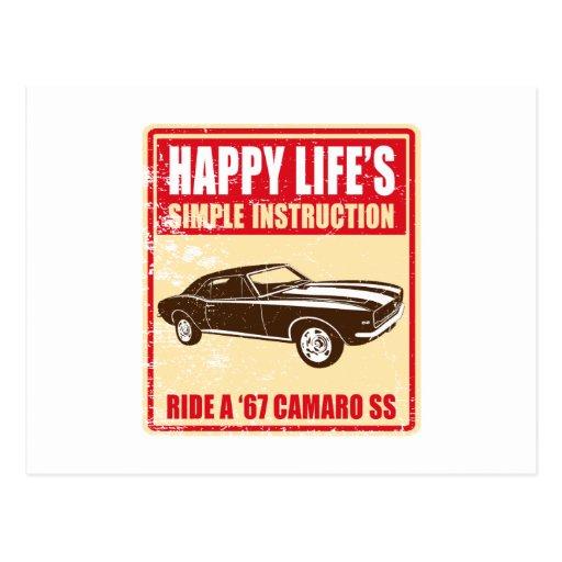1967 Chevrolet Camaro SS 396 Postcard