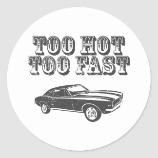 1967 Chevrolet Camaro SS 396 Round Sticker