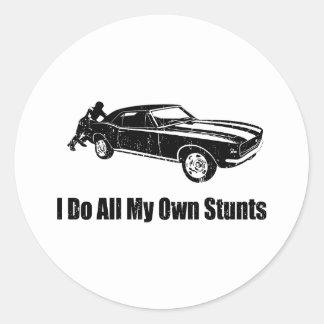 1967 Chevrolet Camaro SS 396 Round Stickers
