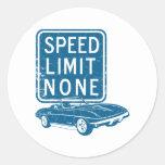 1967 Chevrolet Corvette 427 L88 Round Stickers