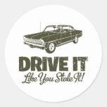 1967 Chevrolet Nova SS Classic Round Sticker