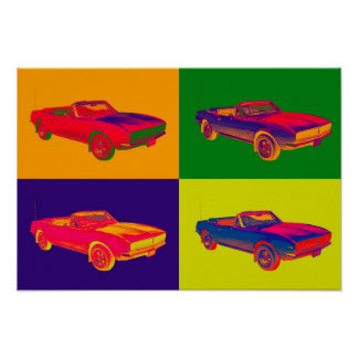 1967 Chevy Camaro RS Convertible Pop Art Poster
