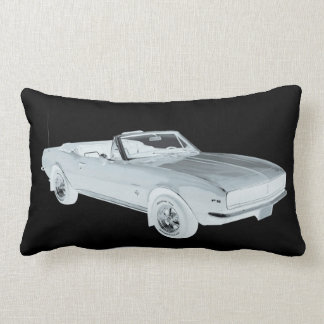 1967 Chevy Camaro RS Muscle Car Pop Art Lumbar Pillow