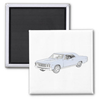 1967 Chevy Chevelle 2 Inch Square Magnet