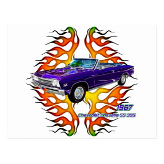 1967 Chevy Chevelle by Fractal Tees(TM) Postcard