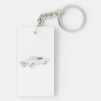 1967 Chevy Chevelle Keychain