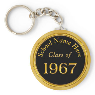 1967 Class Reunion Gifts PERSONALIZED Your COLORS Keychain
