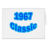 1967 Classic Blue Greeting Card