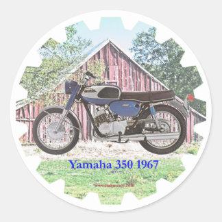 1967 Classic Motorcycle Yamaha Classic Round Sticker