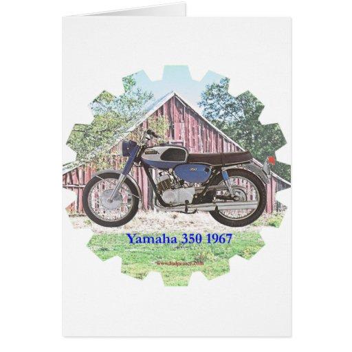 1967 Classic Motorcycle Yamaha Greeting Card