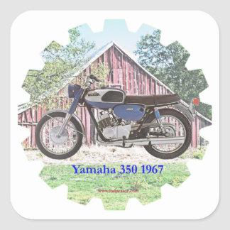 1967 Classic Motorcycle Yamaha Square Sticker