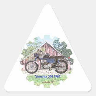1967 Classic Motorcycle Yamaha Triangle Sticker
