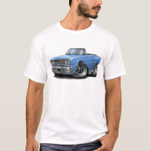 1967 Coronet RT Lt Blue Convertible T-Shirt