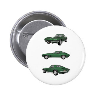 1967 Corvette C2: Pinback Button