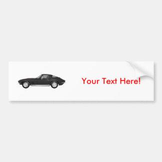 1967 Corvette Sports Car: Black Finish: Bumper Sticker