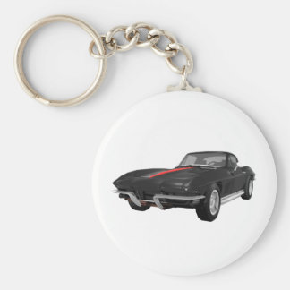 1967 Corvette Sports Car: Black Finish: Keychain