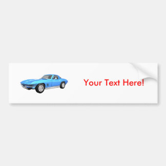 1967 Corvette Sports Car: Blue Finish: Bumper Sticker