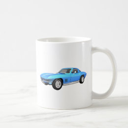 1967 Corvette Sports Car: Blue Finish: Coffee Mug
