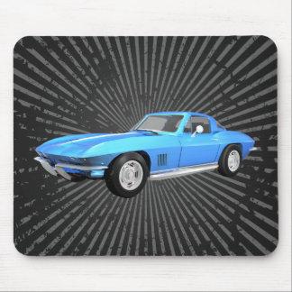 1967 Corvette Sports Car: Blue Finish: Mousepad
