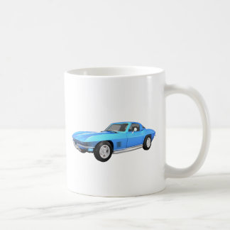 1967 Corvette Sports Car: Blue Finish: Coffee Mugs