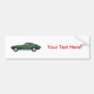 1967 Corvette Sports Car: Green Finish: Bumper Sticker
