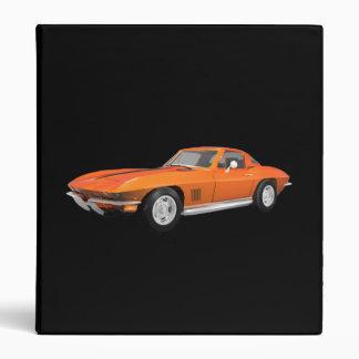1967 Corvette Sports Car: Orange Finish: Binder
