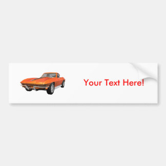 1967 Corvette Sports Car: Orange Finish Bumper Sticker