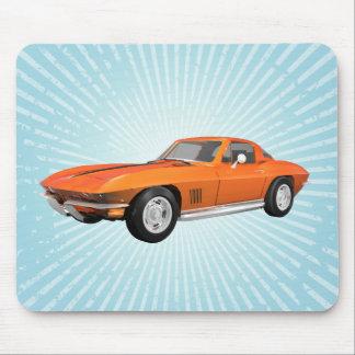 1967 Corvette Sports Car: Orange Finish: Mousepad