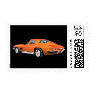 1967 Corvette Sports Car: Orange Finish: Postage