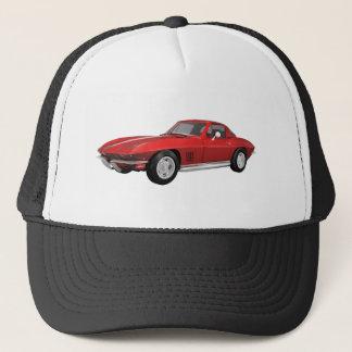 1967 Corvette: Sports Car: Red Finish: Trucker Hat