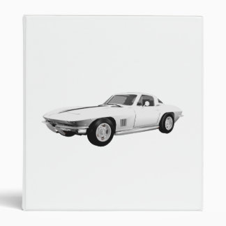 1967 Corvette Sports Car: White Finish: Binder