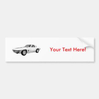 1967 Corvette Sports Car: White Finish: Bumper Stickers