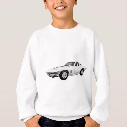 1967 Corvette Sports Car: White Finish: Sweatshirt