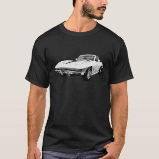 1967 Corvette Sports Car: White Finish: T-Shirt