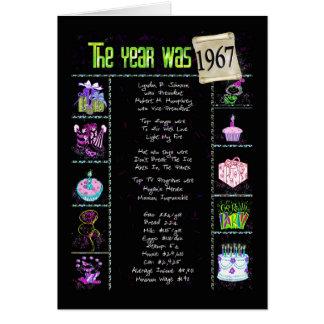 1967 datos divertidos del cumpleaños tarjeta de felicitación