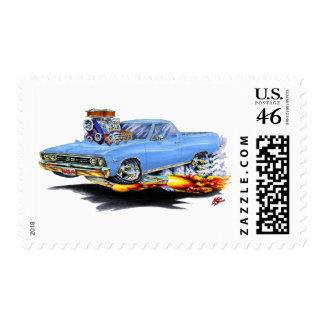 1967 El Camino Lt Blue Truck Postage Stamp