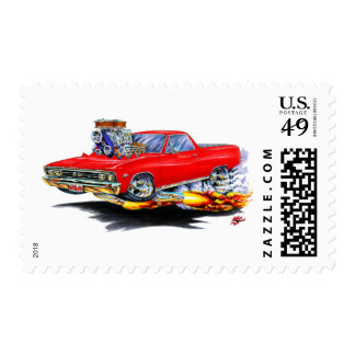 1967 El Camino Red Truck Stamps