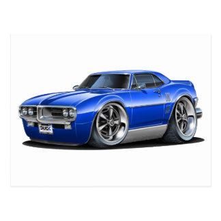 1967 Firebird Blue Car Postcard