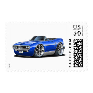 1967 Firebird Blue Convertible Postage