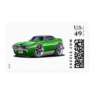 1967 Firebird Green-Black Car Postage Stamp